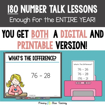 Number Talks - A Yearlong Program for Third Grade ~ Common Core Aligned
