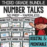 Third Grade Number Talks (DIGITAL & Printable) - A Yearlong Program