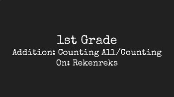 Number Talks Addition: Counting All/Counting On: Rekenreks for First Grade