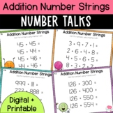 Number Talks - Addition Number Strings - Upper Elementary