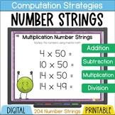 Number Talks and Number Strings BUNDLE add subtract multip