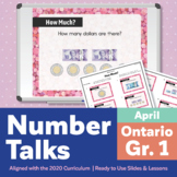 Number Talks April Pack – Ontario Grade 1 | For In-Class & Distance Learning