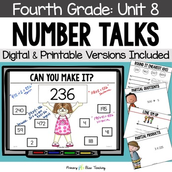 Number Talks - April of Fourth Grade - Common Core Aligned