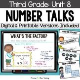Third Grade Paperless Number Talks - Unit 8 (DIGITAL & Printable)