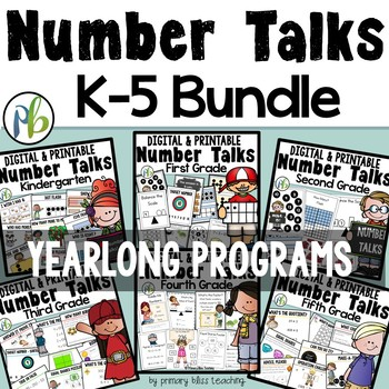 number talks bundle k 5 yearlong programs digital printable tpt