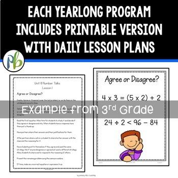 Number Talks BUNDLE (K-5 Yearlong Programs) DIGITAL & Printable