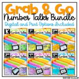 Number Talk BUNDLE Math Fluency & Number Sense Distance Le