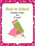 Number Talks:  Back to School K-1