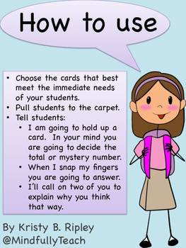 Number Talks Cards: Quantities and Basic Math Facts {CCSS Aligned}