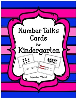 Number Talks Cards for Kindergarten