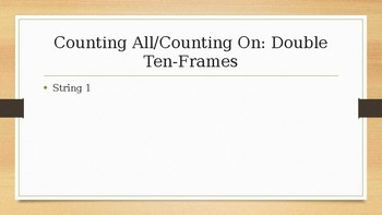 Number Talks: Counting On and Counting All - Double Ten-Frames