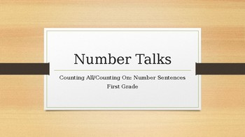 Number Talks: Counting On and Counting All - Number Sentences
