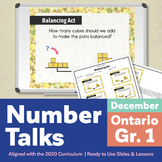 Number Talks December Pack – Ontario Grade 1 | For In-Class & Distance Learning