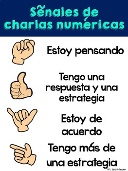 Number Talks Directions Poster English and Spanish