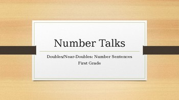 Number Talks: Doubles and Near Doubles - Number Sentences