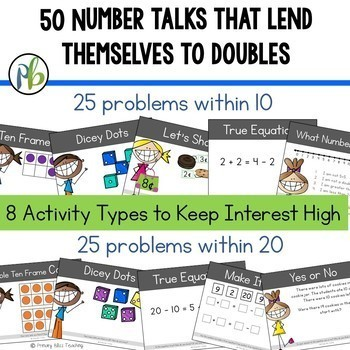 Number Talks - Doubles within 20 (DIGITAL and Printable)