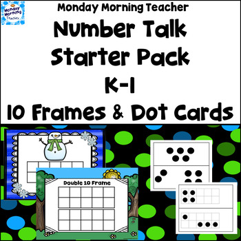 Number Talks - Early Level Starter Pack 10 Frames and Dot Cards
