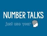Number Talks Editable Slides