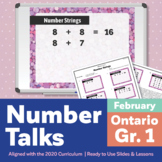 Number Talks February Pack – Ontario Grade 1 | For In-Class & Distance Learning