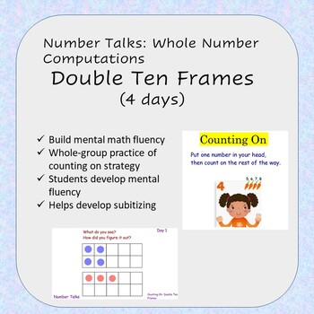 Number Talks Flipchart - Double Ten Frames