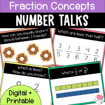 Number Talks- Fraction Concepts - Upper Elementary
