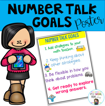 Number Talks Goals Anchor Chart