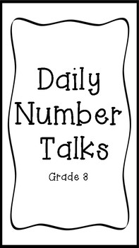 YEARLONG Number Talks Grade 3