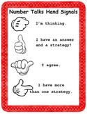 Number Talks Hand Signals in English and Spanish
