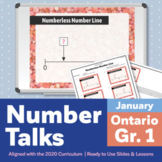 Number Talks January Pack – Ontario Grade 1 | For In-Class & Distance Learning
