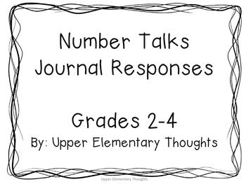 Number Talks Journal Responses