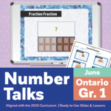 Number Talks June Pack – Ontario Grade 1 | For In-Class & Distance Learning
