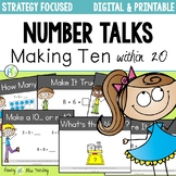 Number Talks - Making Ten Strategy (DIGITAL and Printable)