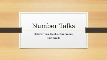 Number Talks: Making Tens - Double Ten-Frames