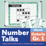 Number Talks March Pack – Ontario Grade 1 | For In-Class & Distance Learning