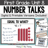 First Grade Paperless Number Talks - Unit 8 (DIGITAL and Printable)