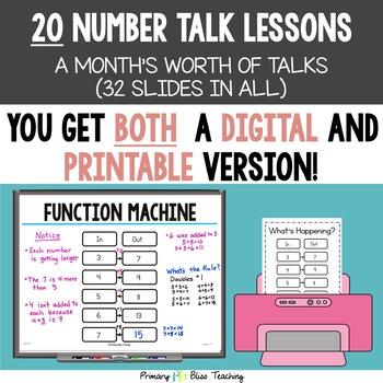 Number Talks / Math Talks ~ April of Second Grade ~ Common Core Aligned