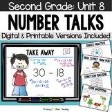 Second Grade Paperless Number Talks - Unit 8 (DIGITAL and Printable)