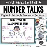 First Grade Number Talks - Unit 4 (DIGITAL and Printable)