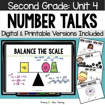 Second Grade Number Talks - Unit 4 (December)