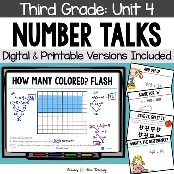 Number Talks / Math Talks ~ December of Third Grade ~ Comm