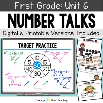 Number Talks - February of First Grade - Common Core Aligned