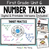 First Grade Paperless Number Talks - Unit 6 (DIGITAL and Printable)