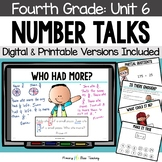 Fourth Grade Paperless Number Talks Unit 6 (DIGITAL and Printable)
