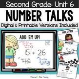 Second Grade Number Talks - Unit 6 (DIGITAL and Printable)