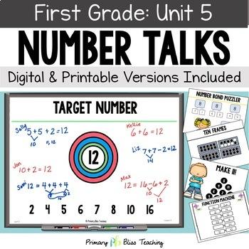 First Grade Number Talks - Unit 5 (January)