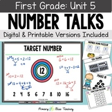 First Grade Paperless Number Talks - Unit 5 (DIGITAL and Printable)