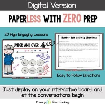 Fourth Grade Number Talks - Unit 5 (DIGITAL and Printable)