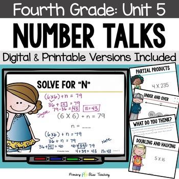 Number Talks / Math Talks ~ January of Fourth Grade ~ Comm
