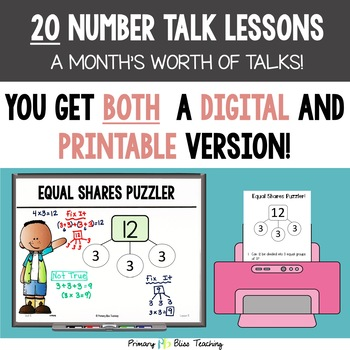 Number Talks / Math Talks ~ January of Third Grade ~ Common Core Aligned