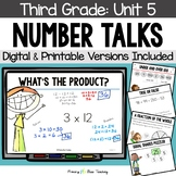 Third Grade Paperless Number Talks - Unit 5 (DIGITAL and Printable)